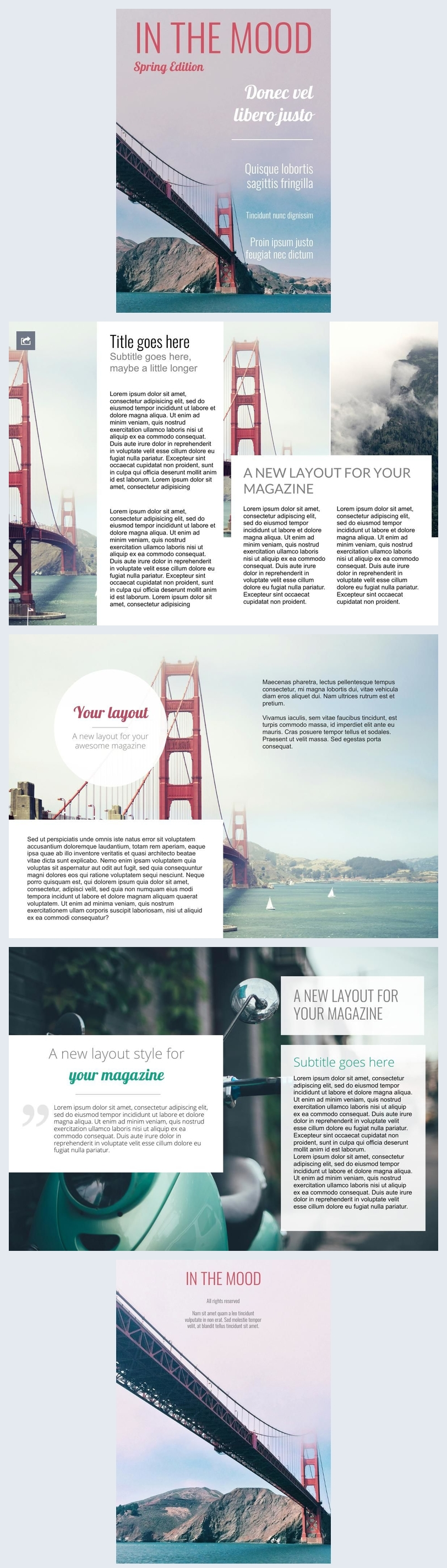 Travel & Photography Magazine Design