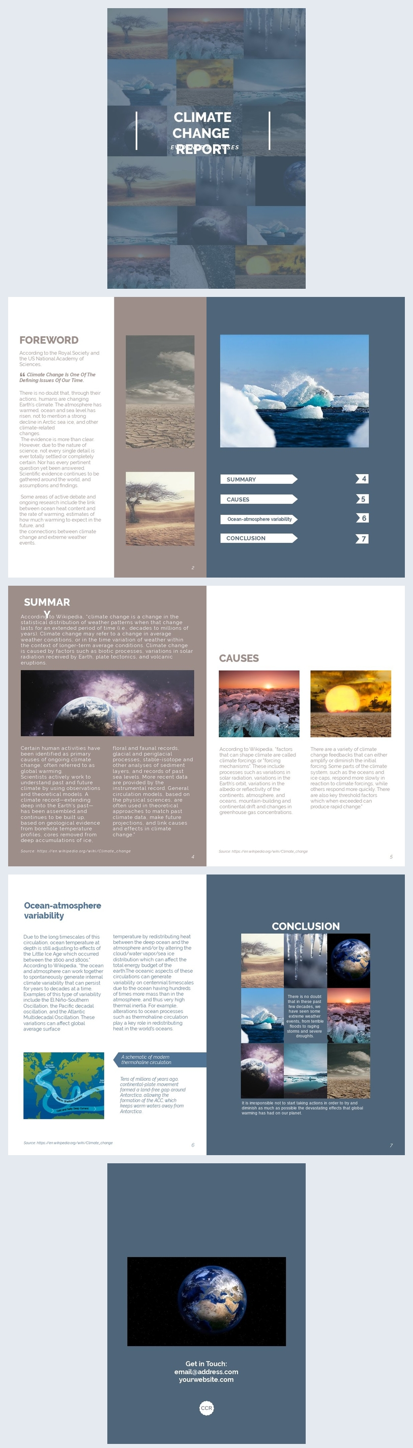 Professional Research Report Design