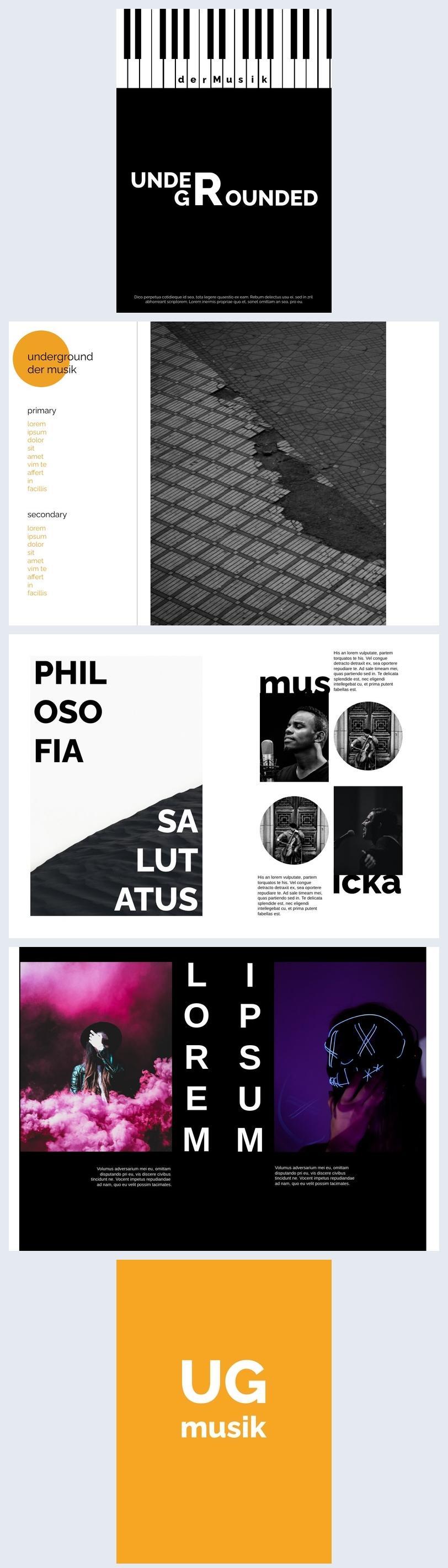 Diseño para revista de música moderna