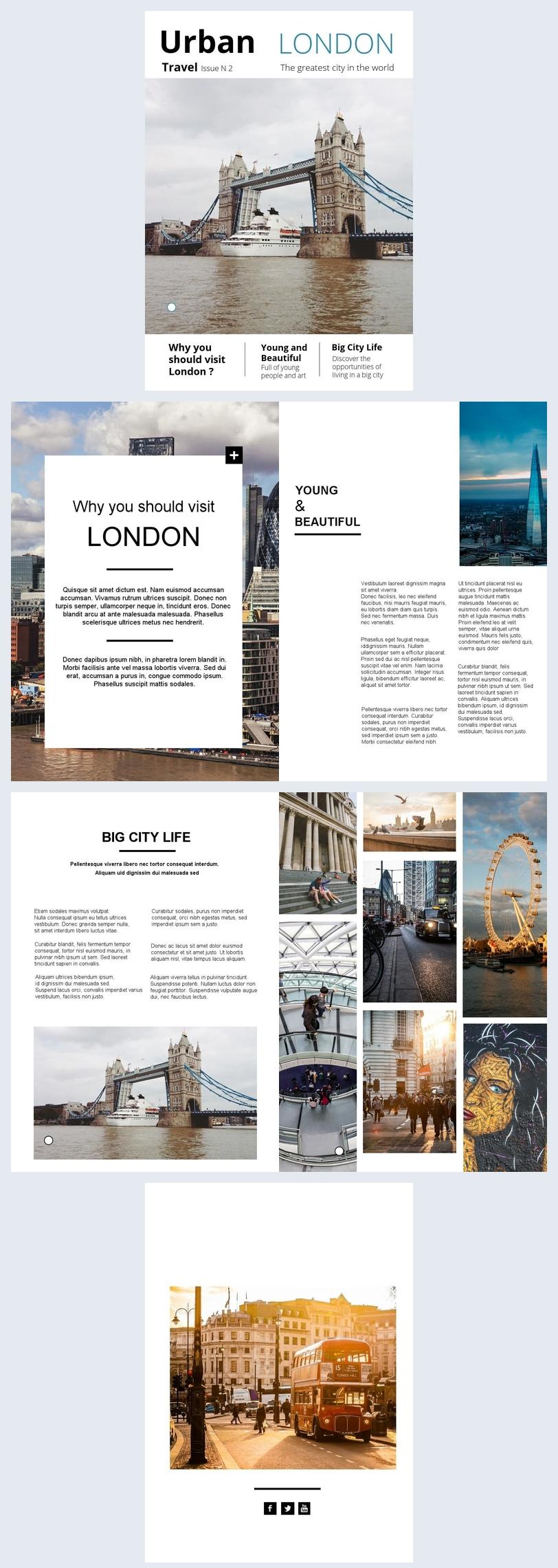 Exemplo de Brochura de Viagem pela Cidade